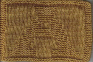 Print on Demand: Letter a Knit Dishcloth Pattern Graphic Knitting Patterns By Heather Wiegel