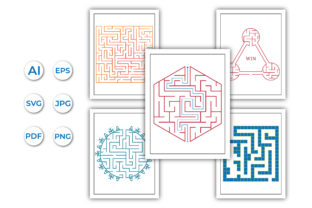 Maze Game for Kids and Adults Graphic KDP Interiors By srshohan30