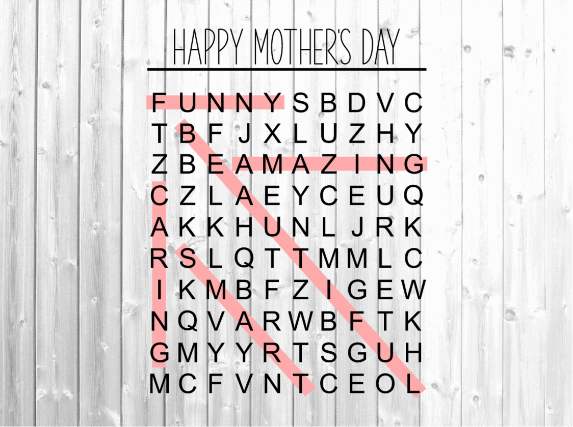 Mother's Day Word Search Svg - Mom... SVG File