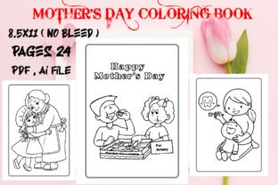 Mother's Day Coloring Page Vol-4 Graphic KDP Interiors By Creative interior