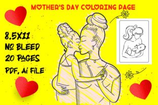 Mother's Day Coloring Page Vol-5 Graphic KDP Interiors By Creative interior