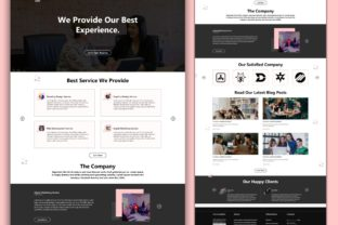 Print on Demand: Multipurpose Digital Creative Agency Web Graphic Landing Page Templates By themesfusion