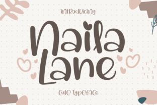 Print on Demand: Naila Lane Script & Handwritten Font By Dani (7NTypes)