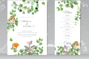 Print on Demand: Nature Painting Wedding Invitations Graphic Print Templates By Agnetart