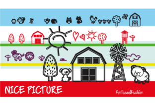 Print on Demand: Nice Picture Dingbats Font By Fontsandfashion