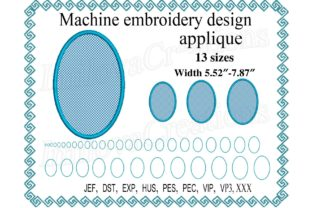 Oval Applique Shapes Embroidery Design By ImilovaCreations