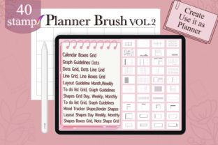 Procreate Brushes Stamp Outline Planner Graphic Brushes By Digital ideas Art