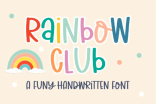 Print on Demand: Rainbow Club Script & Handwritten Font By BitongType