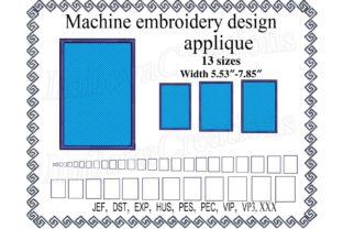 Rectangle Applique Shapes Embroidery Design By ImilovaCreations
