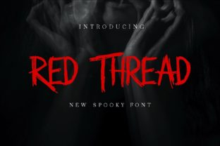 Print on Demand: Red Thread Display Font By Pidco.art