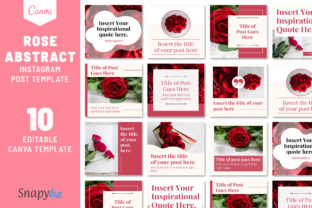 Print on Demand: Rose Abstract Canva Instagram Template Graphic Presentation Templates By SnapyBiz