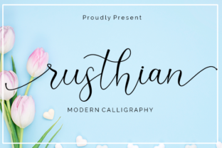 Print on Demand: Rushtian Script & Handwritten Font By Nabila Graphic
