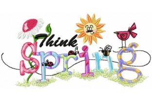 Sassy Think Spring Outdoor Quotes Embroidery Design By Sew Terific Designs