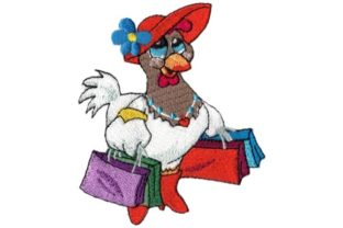 Shopping Chick Farm Animals Embroidery Design By Sew Terific Designs