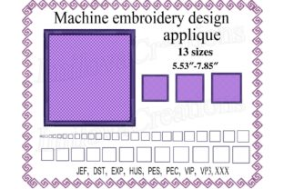 Square Applique Shapes Embroidery Design By ImilovaCreations