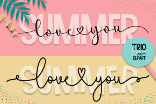 Print on Demand: Summer Love You Skript & Handgeschrieben Schriftarten von Fillo Graphic