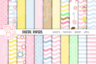 Sweet Alice Digital Papers Graphic Backgrounds By Mutchi Design