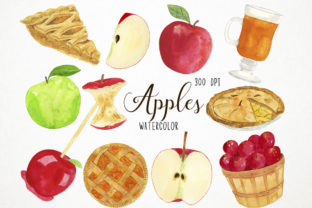 Watercolor Apples Clipart Graphic Illustrations By Paulaparaula