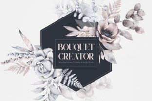 Watercolor Bouquet Creator Flower PNG Graphic Illustrations By Busy May Studio