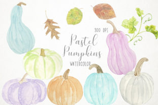 Watercolor Pastel Pumpkins Clipart Graphic Illustrations By Paulaparaula