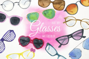 Watercolor Sunglasses Clipart, Glasses Graphic Illustrations By Paulaparaula