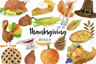Watercolor Thanksgiving Clipart Graphic Illustrations By Paulaparaula