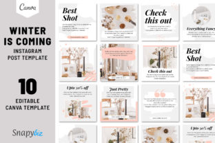 Print on Demand: Winter is Coming Instagram Post Template Graphic Presentation Templates By SnapyBiz