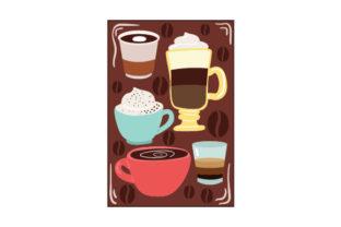 Various Types of Coffee Coffee Craft Cut File By Creative Fabrica Crafts
