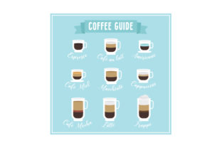 Different Types of Coffee Coffee Craft Cut File By Creative Fabrica Crafts