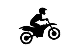Motocross Rider Silhouette Hobbies Craft Cut File By Creative Fabrica Crafts