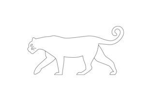 Black and White Line Art Mountain Lion Animals Craft Cut File By Creative Fabrica Crafts