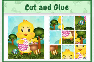 A Chick Easter Animal 5 - Cut and Glue Graphic 5th grade By wijayariko