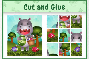 A Hippo Easter Animal 5 - Cut and Glue Graphic 5th grade By wijayariko