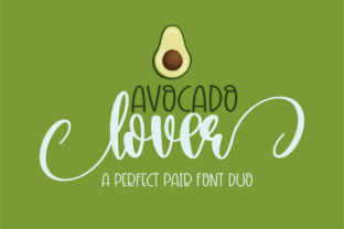 Print on Demand: Avocado Lover Script & Handwritten Font By BitongType
