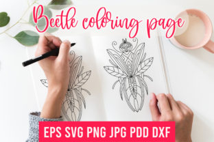 Print on Demand: Beetle SVG.Beetle Coloring.Sublimation Graphic Coloring Pages & Books Adults By Art's and Patterns