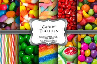 Print on Demand: Candy Shop Digital Paper Pack Graphic Backgrounds By Party Pixelz 1