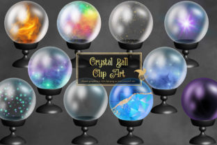 Print on Demand: Crystal Ball Clipart Graphic Illustrations By Digital Curio