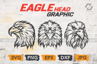 Print on Demand: Eagle Bird Head Clipart Vector Design Graphic Crafts By nesdigiart