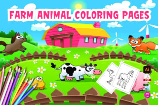 Farm Animal Coloring Pages Graphic Coloring Pages & Books Kids By Moonz Coloring