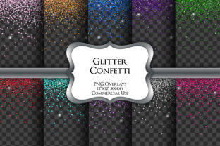 Print on Demand: Glitter Confetti Overlays Transparent Graphic Illustrations By Party Pixelz