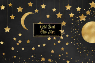 Print on Demand: Gold Star Clipart Graphic Illustrations By Digital Curio