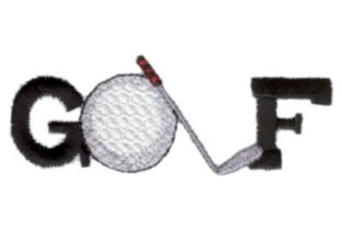 Golf Word Sports Embroidery Design By Sew Terific Designs