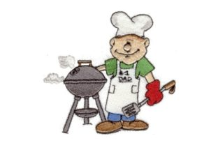 Grillin' Dad Kitchen & Cooking Embroidery Design By Sew Terific Designs