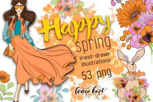 Happy Spring Clip Art Graphic Illustrations By Tanya Kart