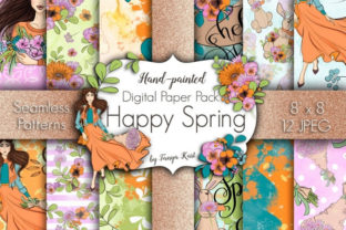 Happy Spring Paper Pack Graphic Patterns By Tanya Kart