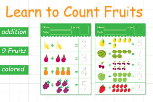 Learn to Count Fruits Graphic K By Kids Zone 1