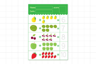 Learn to Count Fruits Graphic K By Kids Zone 3