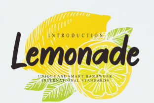 Print on Demand: Lemonade Script & Handwritten Font By Misterletter.co
