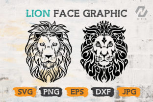 Print on Demand: Lion Face Clipart Vector Design Graphic Crafts By nesdigiart