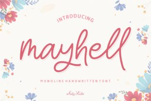 Print on Demand: Mayhell Script & Handwritten Font By pailystudio
